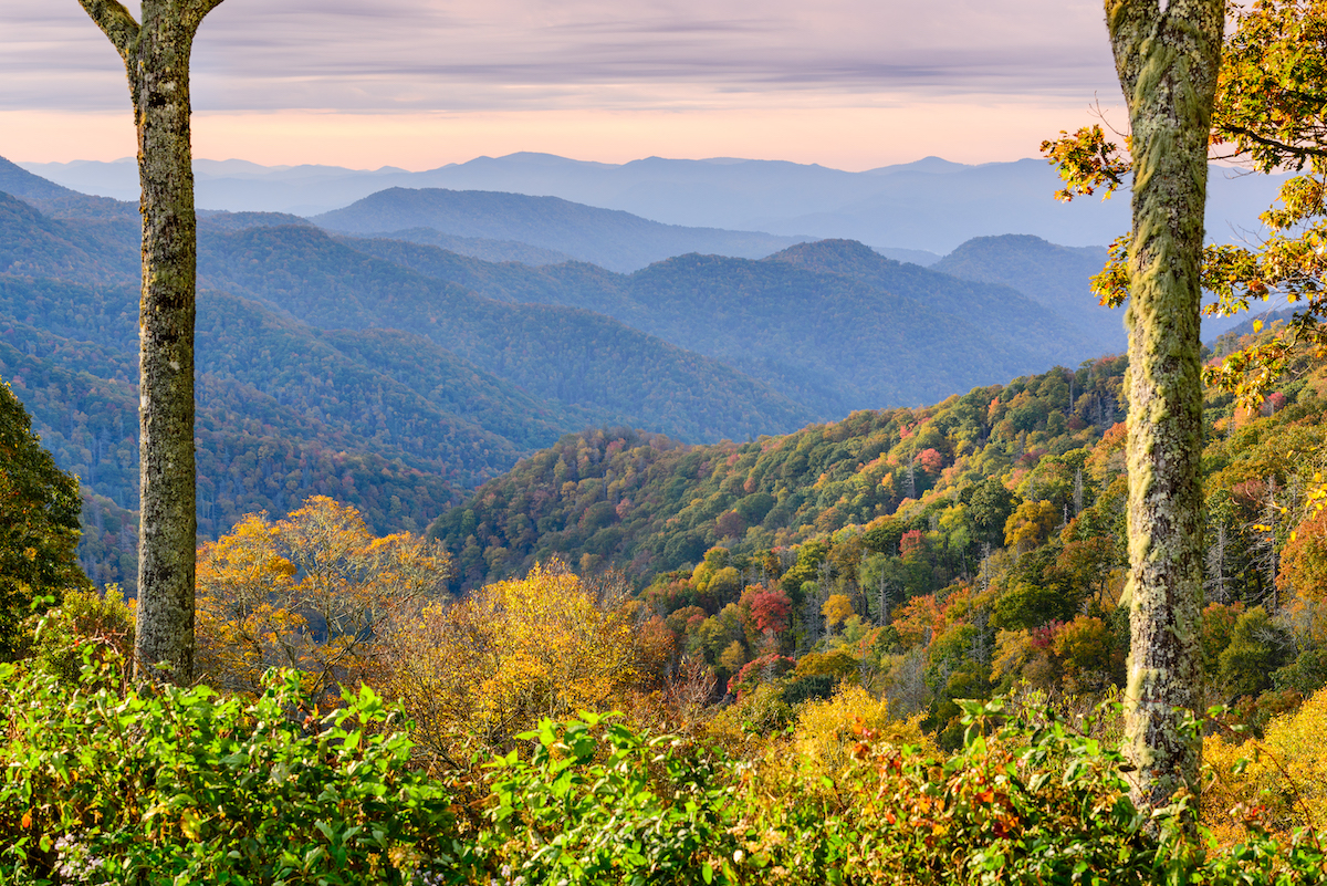 Tennessee Smoky Mountains National Park in November