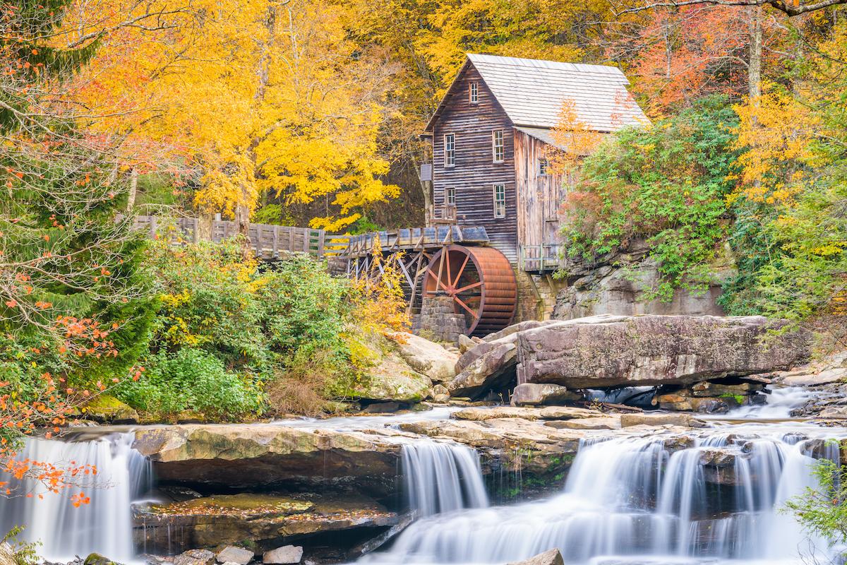 Virginia Glade Creek Grist Mill in November