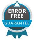 Error Free Guarantee Badge