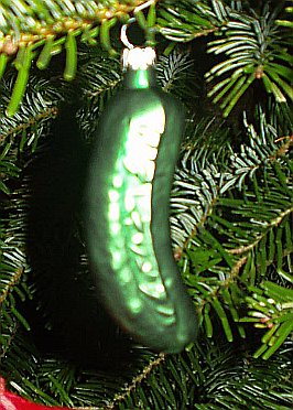 Weihnachtsgurke Christmas Pickle in Germany
