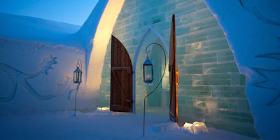 Hotel Accommodations Made from Ice