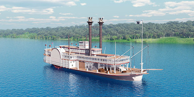 Old Steam Boat Cruise Ship