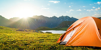 Tent Pitched in a National Park