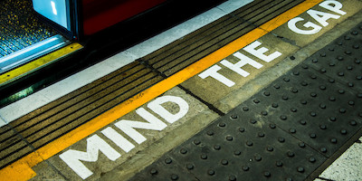 Mind the Gap Sign in London Underground
