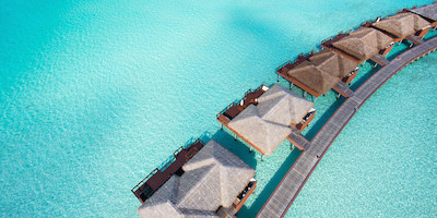 Personal Resort Huts in Crystal Clear Water